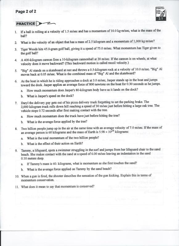 worksheet. Conservation Of Momentum Worksheet Answers. Grass Fedjp ...